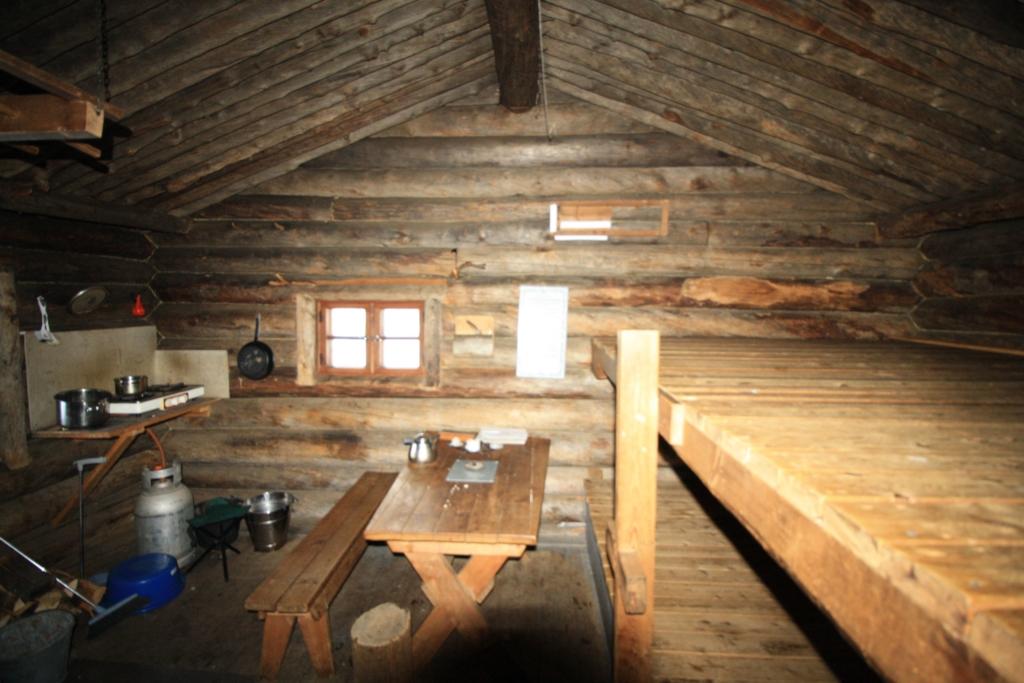 Urho Kekkonen national park inside Sarvioja cabin